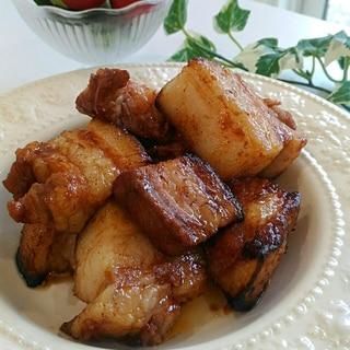 簡単オーブンまかせ☆豚バラブロックのスタミナ焼き