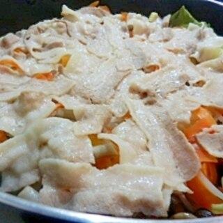 簡単☆すき焼き鍋で蒸ししゃぶ