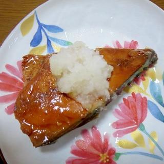 サバの味噌煮の大根添え