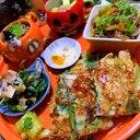 空芯菜といか糀漬のチヂミ