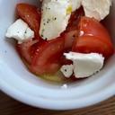 柚子でさっぱり☆トマトとクリチのオリーブオイル和え