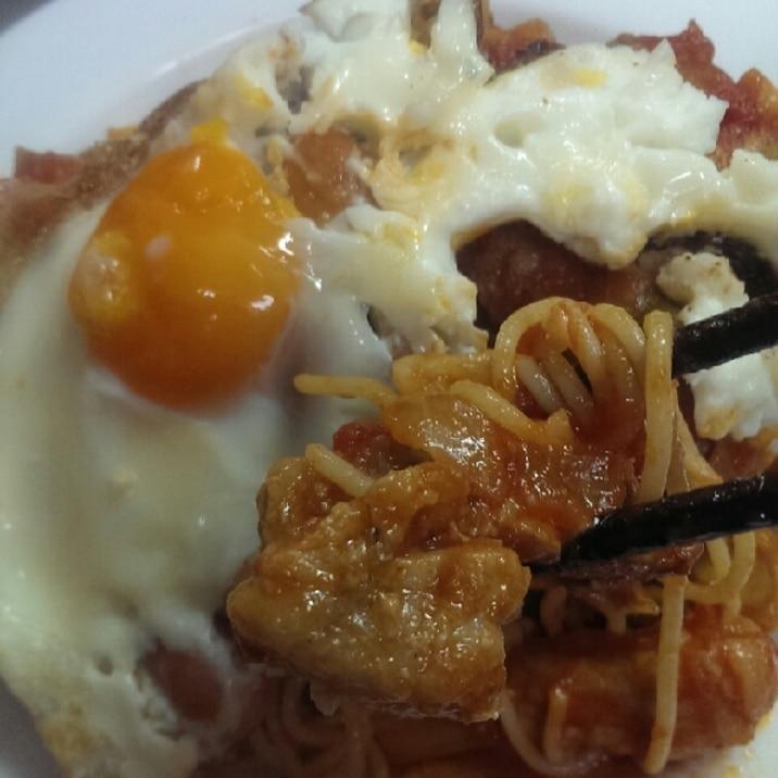 豚ロース厚切りトマト煮のパスタ
