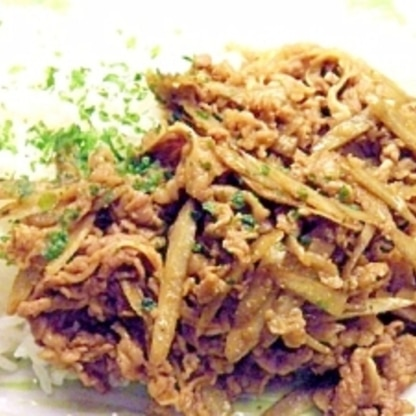 牛肉と牛蒡のカレー炒め