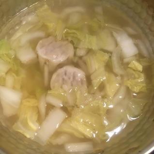 白菜とシュウマイの味噌汁