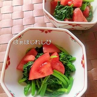 トマトと菜の花の酢の物✿