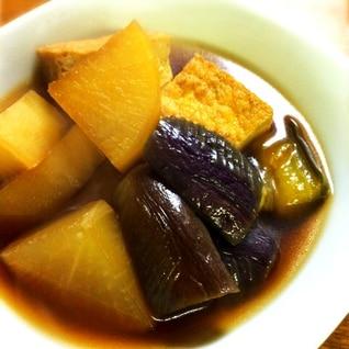 茄子と大根、厚揚げの煮物