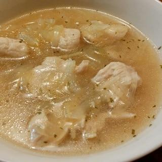 玉ねぎと鶏むね肉のあっさり簡単旨味スープ