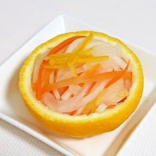 紅白なます☆大根・人参・柚子★砂糖もみで減塩志向