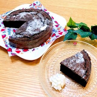 ノンオイル♡豆腐と米粉のガトーショコラ♡