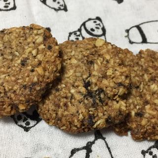 ザクザク FPで全粒粉とオートミールのクッキー