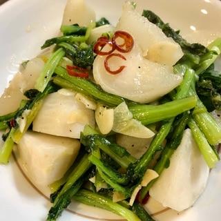 簡単副菜♫無水鍋でにんにくとかぶのホクホク蒸し