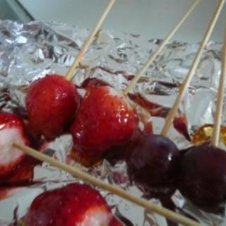 電子レンジで簡単☆屋台の味 フルーツ飴