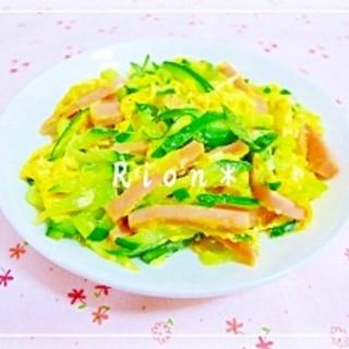 簡単*きゅうりと魚肉ソーセージの卵炒め*