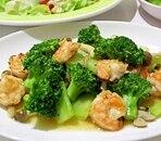 簡単!スピーディー☆ 海老とブロッコリーの塩炒め