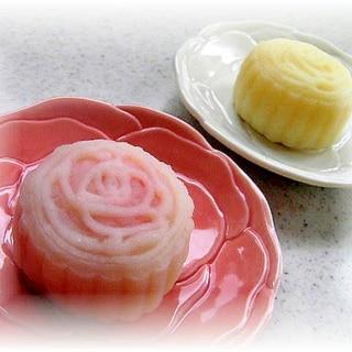 2色のチーズケーキ冰皮月餅