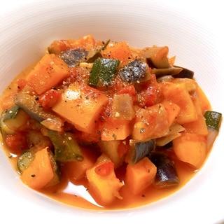 夏野菜とじゃがいもで作るラタトゥイユ