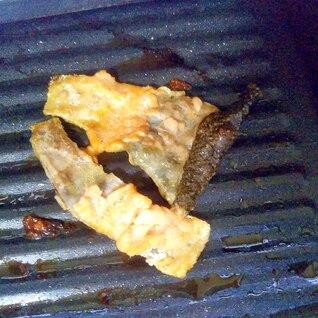 ワイン鱒の皮のパリパリ焼き