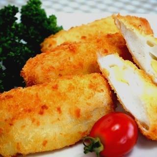 ◇チーズはんぺん◆の揚げないフライ〈ガリバタ風味〉