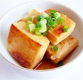 高野豆腐の揚げだし豆腐