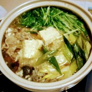 水菜・春菊たっぷり!寄せ鍋