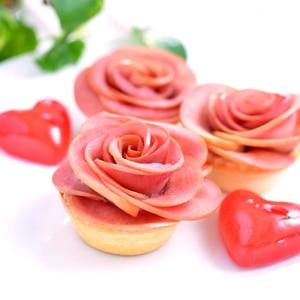 赤い薔薇のりんごタルト