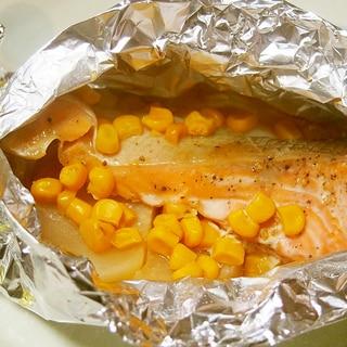 鮭とかぶのホイル焼き♪かぶがとろける♪