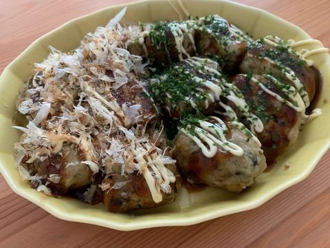 めちゃ美味しい★オートミールたこ焼き生地レシピ