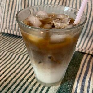私の配分♡インスタントコーヒーでアイスカフェラテ