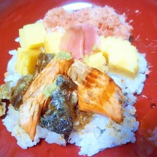 焼きワイン鱒deちらし寿司