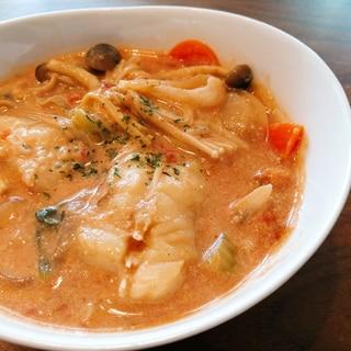 母の日に♪ カレー風味のトマト豆乳スープ