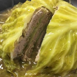 キャベツと挽肉のミルフィーユ