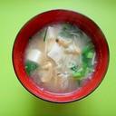 豆腐と切り干し大根あさりの味噌汁