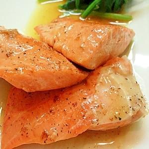 銀鮭を白ワインで蒸しちゃいました★かなり美味い★