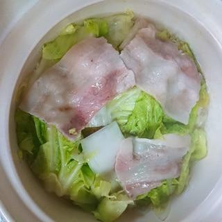 土鍋で白菜と豚バラ肉の重ね蒸し