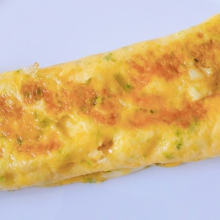 青海苔とかつお節の卵焼き