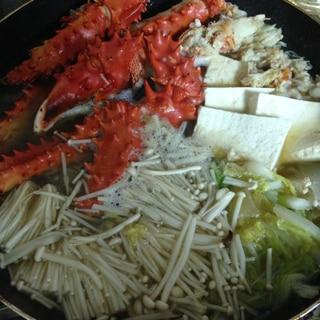 タラバ蟹で鍋