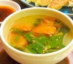 セロリの葉とトマトの中華スープ