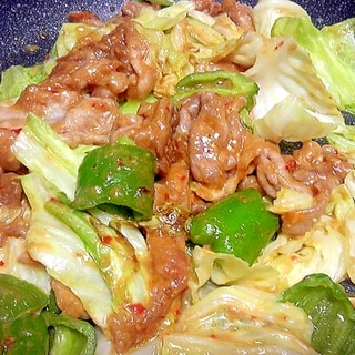 味の絡みやすい薄切り肉の回鍋肉(ホイコーロ)