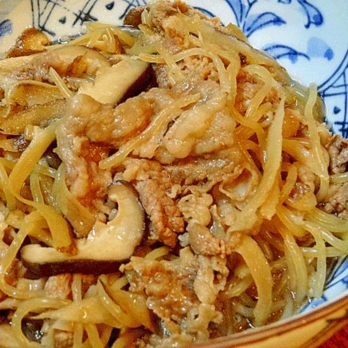 鉄板お惣菜☆ 「牛肉とゴボウ甘辛炒め煮」