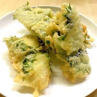 ハモの天ぷら★大葉と梅肉で