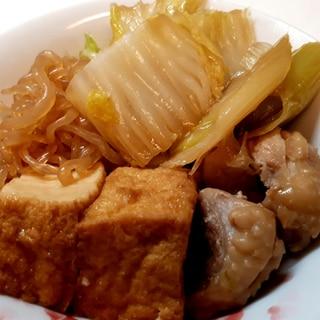 白菜と鶏肉のすき焼風