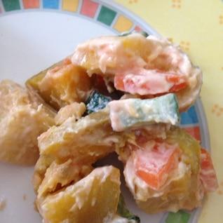 安納芋とかぼちゃのサラダ