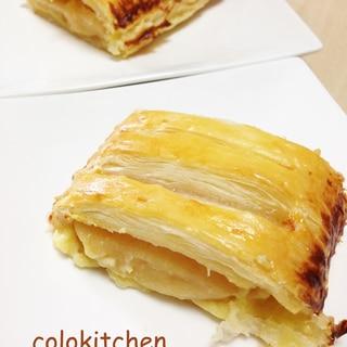 冷凍パイシートでアップルカスタードパイ