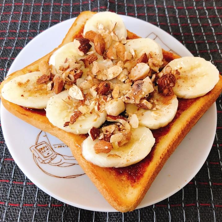 honeyキャラメルバナナトースト