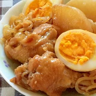 甘辛味がご飯に合う!手羽元・大根・卵のうま煮