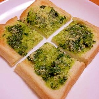バジル風味☆ガーリックトースト
