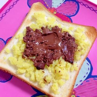 おやつトースト☆さつまいもチョコトースト