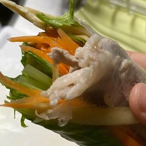 野菜たっぷり 2種の生春巻