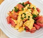 ふわふわ卵とトマトの中華炒め
