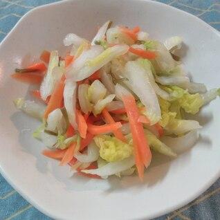鍋であまったら!白菜と人参の塩漬け